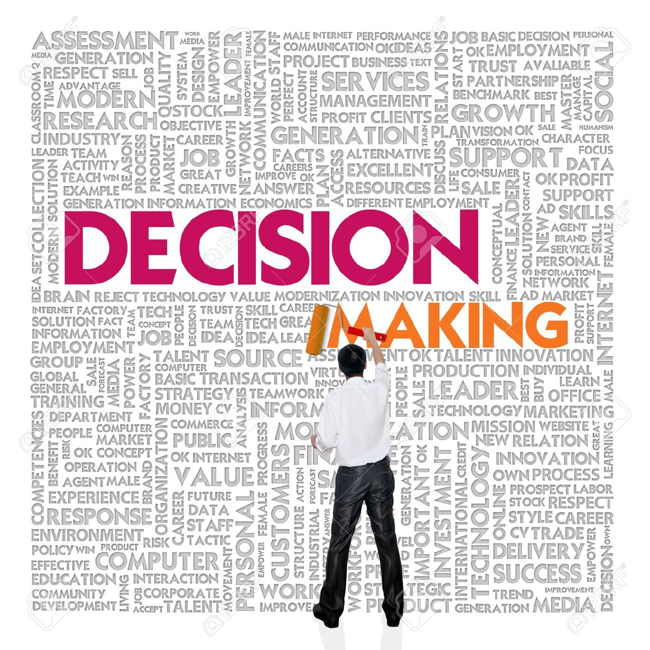 decision maker Well, the decision-maker adds a twist to that here's how it works on one sheet  of paper, list all the positive things you can about the issue in question, then give .
