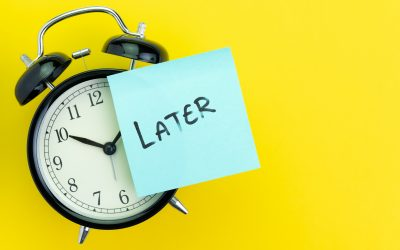 Do not confuse procrastination with delay
