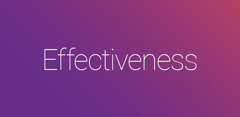 Efficiency & Effectiveness in review.