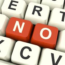 """""""No"""" is a little word with a big impact."""
